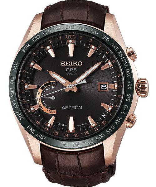 Seiko Astron 8X22-0AG0P(SSE096J1)太陽能GPS對時鈦金屬腕錶/咖啡面44.8mm