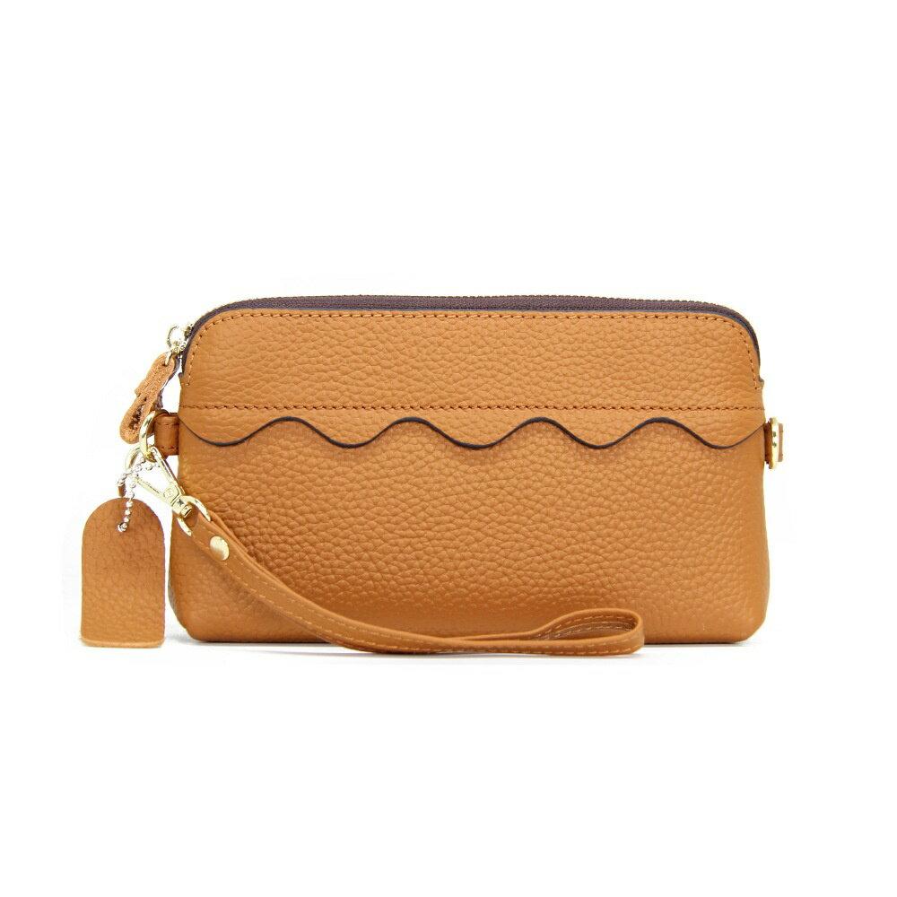 手拿包真皮錢包-純色多功能大容量牛皮女包包5色73wz25【獨家進口】【米蘭精品】 0