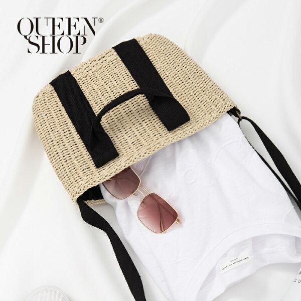 QueenShop【06070256】編織織帶兩用小型包*預購*