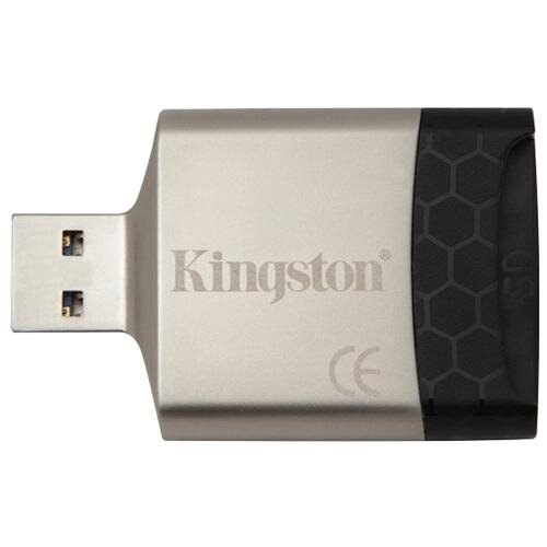 Kingston FCR-MLG4 MobileLite G4 USB 3.0 External Multi Flash Memory Card Reader fit 4GB 8GB 16GB 32GB 64GB 128GB 256GB Kingston SanDisk Samsung microSDHC microSDXC micro SD SDHC SDXC + USB Lanyard 0