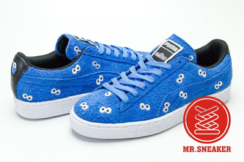 ☆Mr.Sneaker☆ PUMA x SESAME 芝麻街 Street Suede 餅乾怪獸 聯名 限量 藍 男女款
