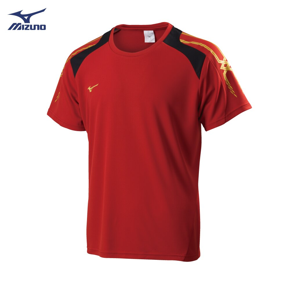 32TA800362(紅)抗紫外線吸汗快乾材質 男短袖T恤【美津濃MIZUNO】 0