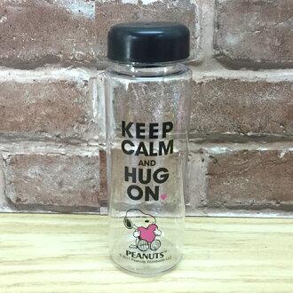 【真愛日本】17051300010 日式風運動水瓶-抱愛心 史奴比 史努比 SNOOPY 透明水壺 水瓶