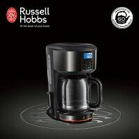 消暑廚房家電到【領券85折】Russell Hobbs 英國羅素 60週年 Legacy 晶亮咖啡機 (20684TW-晶亮黑)