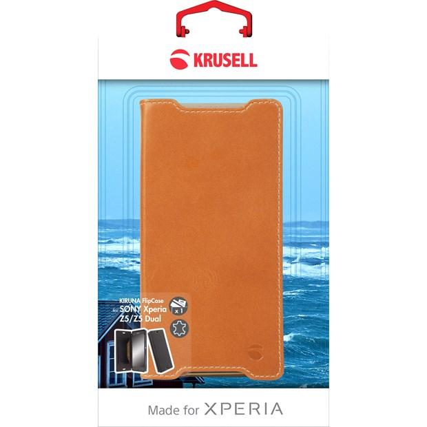 (贈專用保貼+支架)Krusell 側掀皮套/SONY Xperia Z5/手機套/手機殼/側翻皮套/書本套【馬尼通訊】