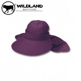 [ WILDLAND 荒野 ] 中性 抗UV可脫式遮陽帽 深紫 / W1006-79