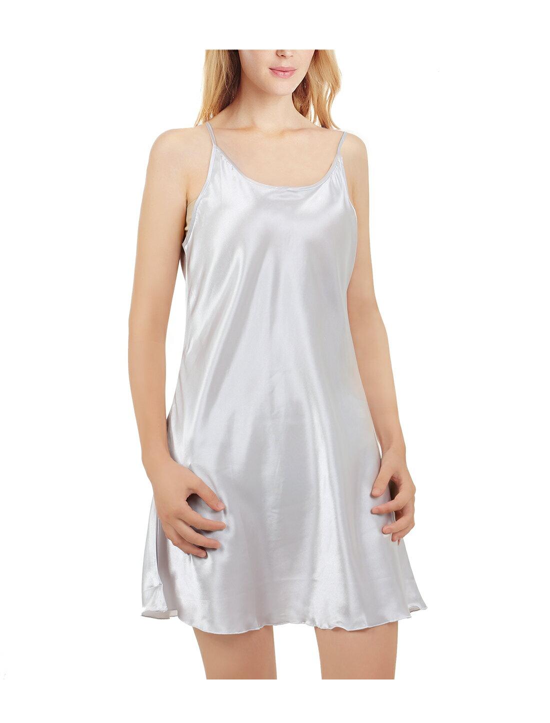 727275d61c5 Unique Bargains Women s Plus Size Silky Lotus Leaf Hem Slip Basic Dress  Nightgown 0