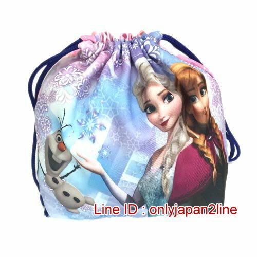 【真愛日本】16121400009便當束口袋-冰雪奇緣   迪士尼 冰雪奇緣 Frozen  日本限定 精品百貨 日本帶回