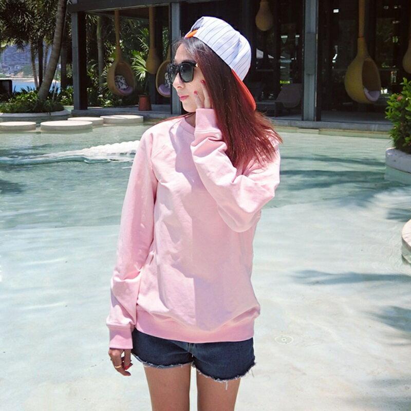 PS Mall 秋裝 純色百搭寬鬆休閒衛衣長袖T恤~T2593~ ~  好康折扣