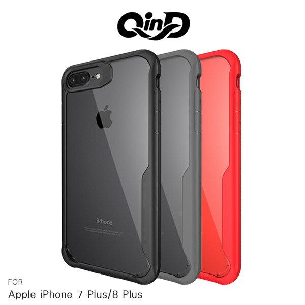強尼拍賣~QinDAppleiPhone78Plus5.5吋簡約防摔套軟邊框硬殼保護殼手機殼I8