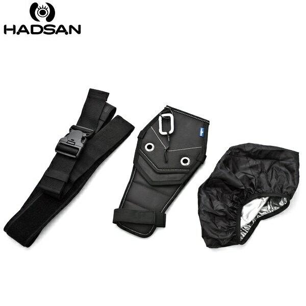 我愛買#台灣製造HADSAN多用途Free Hand槍背帶槍套帶(槍套x1腰帶x1,可斜揹成減壓相機背帶)作為快槍手腰帶可上三腳架腳踏車背包搶拍快槍俠,非spider黑寡婦