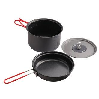 【露營趣】中和 美國 Coleman Packway 2~3人 兩件式套鍋 鋁合金鍋具 不沾鍋 套鍋 平底鍋 煎鍋 CM-PK30J