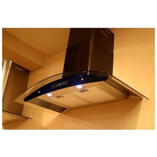 "Akdy 36"" Stainless Steel Az668s3 Black Wall Mount Range Vent Hood 1"
