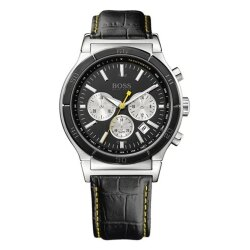 Hugo Boss Black簡約流線計時運動腕錶/H1512585