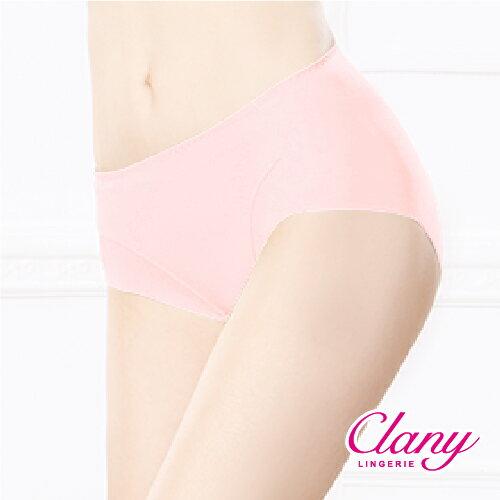 【可蘭霓Clany】健康抑菌竹炭中腰M-XL無痕內褲 甜美橙 2156-41 2