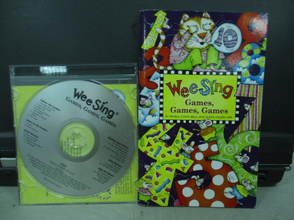 【書寶二手書T8/語言學習_IQP】WeeSing-Games Games Games_1書+光碟合售