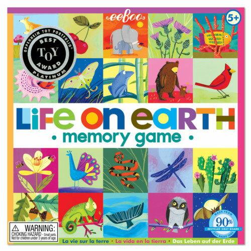 eeBoo 美國益智桌遊 記憶遊戲 – 生物篇 Life On Earth Square Memory Game