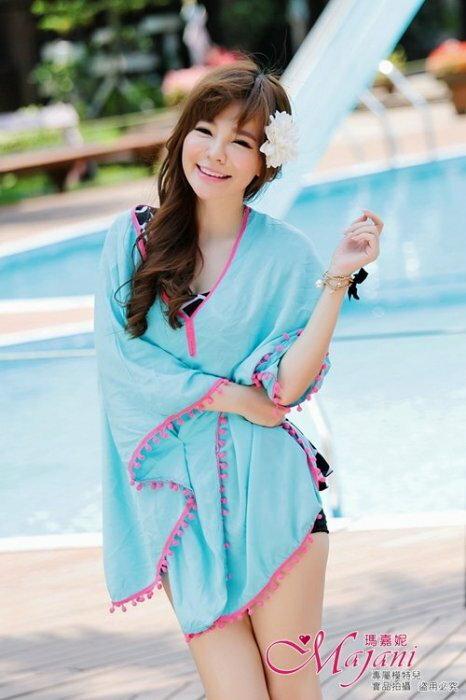 [瑪嘉妮Majani] 日系中大尺碼泳衣泳裝配件 -大尺碼 超寬鬆 比基尼外罩衫 特429 bs-101