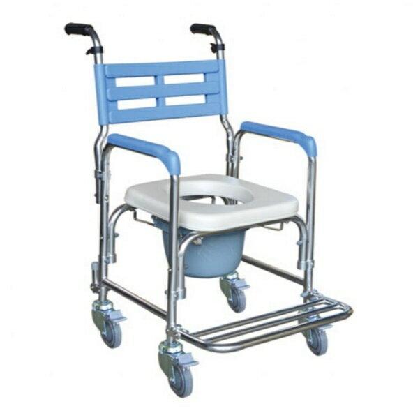 鋁合金洗澡椅便器椅(硬背/把手)YH125-2