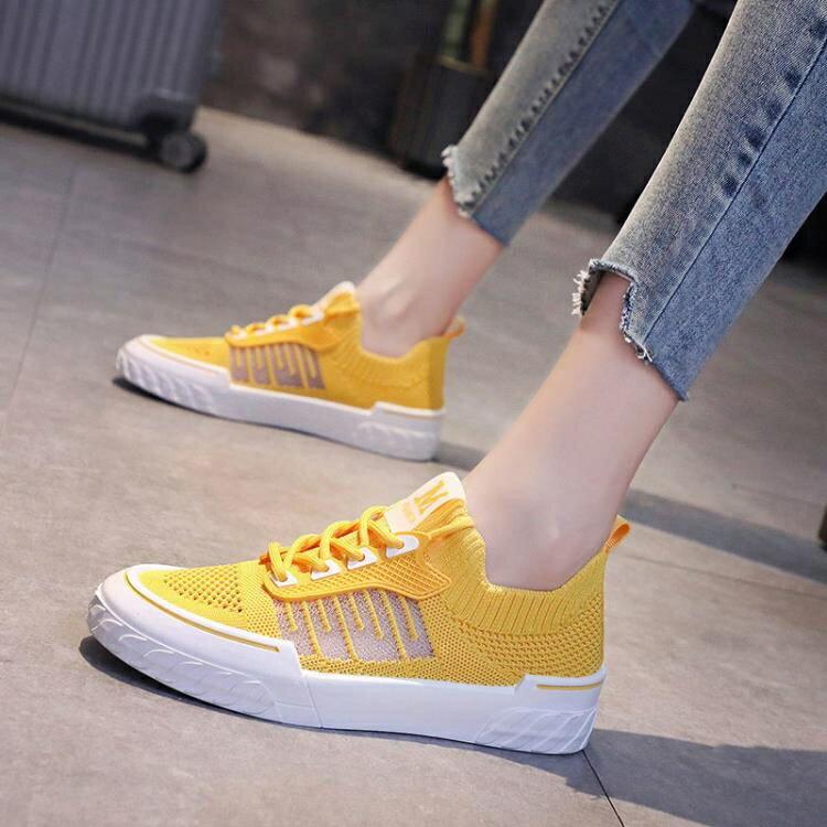 網鞋女2021夏季新款學生韓版透氣飛織網面小白鞋鏤空軟底鞋子板鞋 四季小屋
