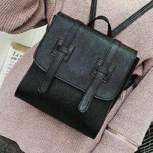 美麗大街~PFXB12750026~ 甜美淑女純色女式雙肩包PU皮車縫線軟面學生背包爆款