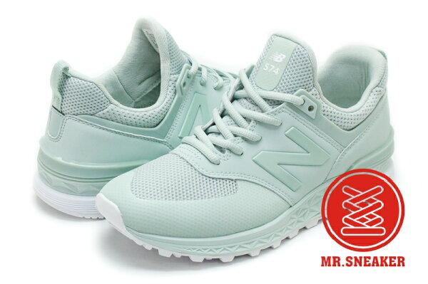 Mr. Sneaker:☆Mr.Sneaker☆NEWBALANCE574SFreshFoam緩震科技綠色女段【單筆消費滿1000元全會員結帳輸入序號『CNY100』↘折100