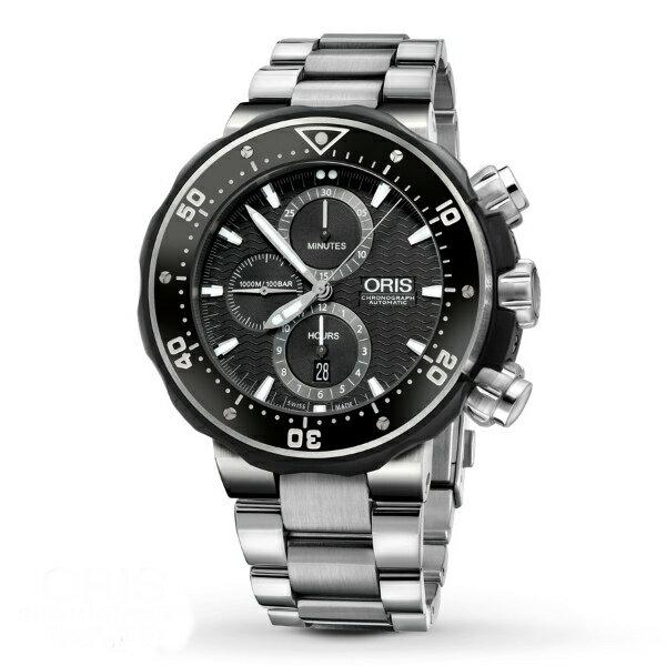ORIS 豪利時 0177476837154-Set鈦金屬專業潛水計時腕錶/黑面51mm