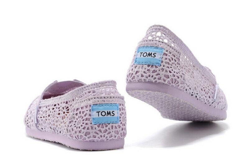 【TOMS】淡紫色蕾絲鏤空繡花平底休閒鞋  Lilac Snow Crochet Women's Classics【全店免運】 6
