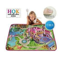 【淘氣寶寶】《比利時 HOK》童話城堡可水洗柔軟遊戲墊