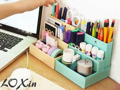 Loxin【SA0109】韓國咖啡蛋糕桌面收納盒 整理盒 桌面收納 桌面整理 文具收納