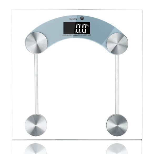 Digital LCD Glass Electronic Body Weight Square Scale 330lb/150kg 0
