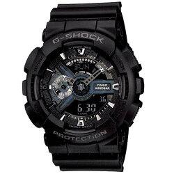 【東洋商行】免運 CASIO 卡西歐 G-SHOCK 暗黑重機裝置指針雙顯概念錶(限量) GA-110-1BDR 原廠公司貨 附保證卡 保固期一年