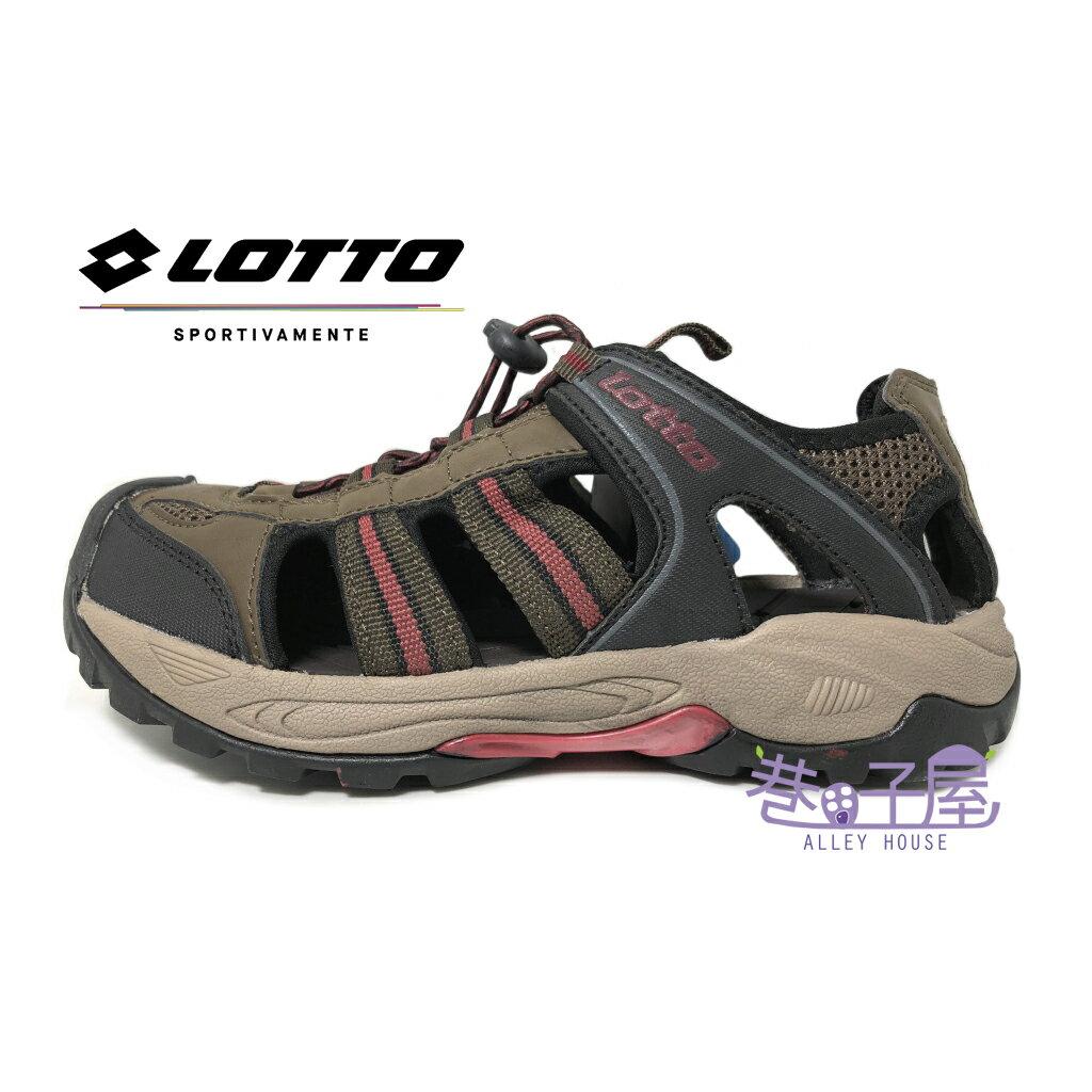 【巷子屋】義大利第一品牌-LOTTO樂得 男款六大機能排水護趾運動涼拖鞋 涼鞋 拖鞋 [3113] 咖啡 超值價$498