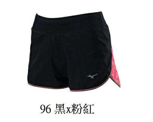 [陽光樂活]MIZUNO美津濃女路跑短褲翁滋蔓代言J2TB625696黑X粉紅