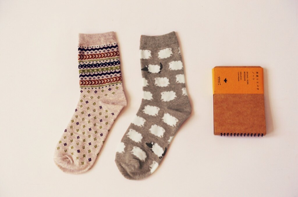 ~開幕 ~Cramella小綿羊雙襪組 中筒襪 短襪 船襪 隱形襪 五指襪 文青情侶 穿搭