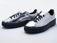 PUMA運動品牌推薦PUMA運動鞋/慢跑鞋/外套推薦到Puma rihanna 蕾哈娜款厚底板鞋 亮面銀色  女款
