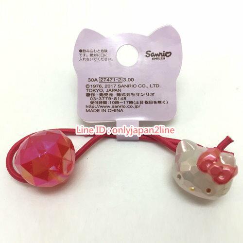 【真愛日本】17021500017髮束-寶石KT紅AAB  三麗鷗 Hello Kitty 凱蒂貓    髮束  飾品  美髮用品