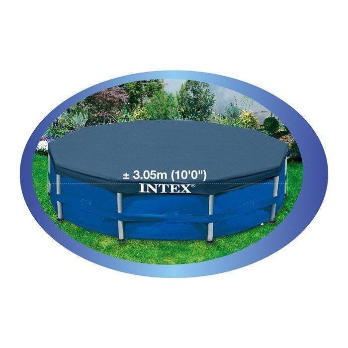 易集GO商城- 代購~ Intex 圓形泳池遮罩(1入)-10呎 金屬支架圓形泳池水池專用-111361 (代購商品下標詢問現貨)