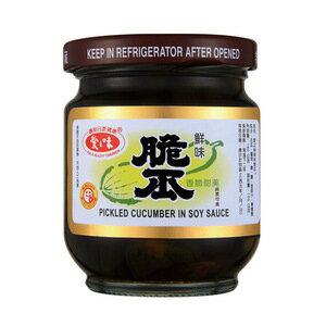 愛之味 鮮味脆瓜 玻璃罐 180g