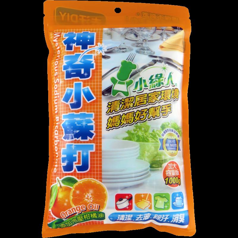 小綠人神奇小蘇打粉-冷壓柑橘油 800g