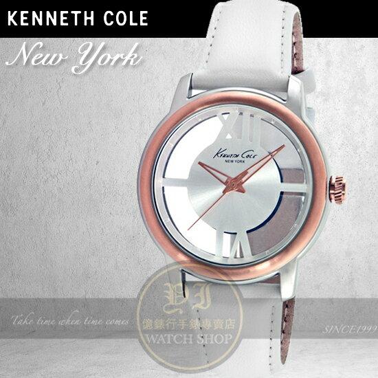 Kenneth Cole國際品牌都會名媛鏤空 腕錶KC10024374 貨