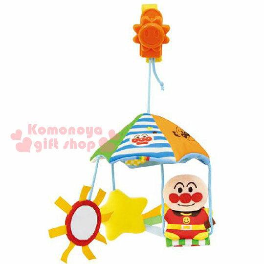〔小禮堂〕麵包超人 嬰兒車用玩具《大臉.泡殼》適合0個月以上嬰兒