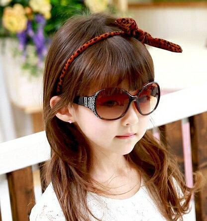 Kocotree◆閃亮晶鑽時尚兒童防紫外線護目太陽眼鏡-咖啡