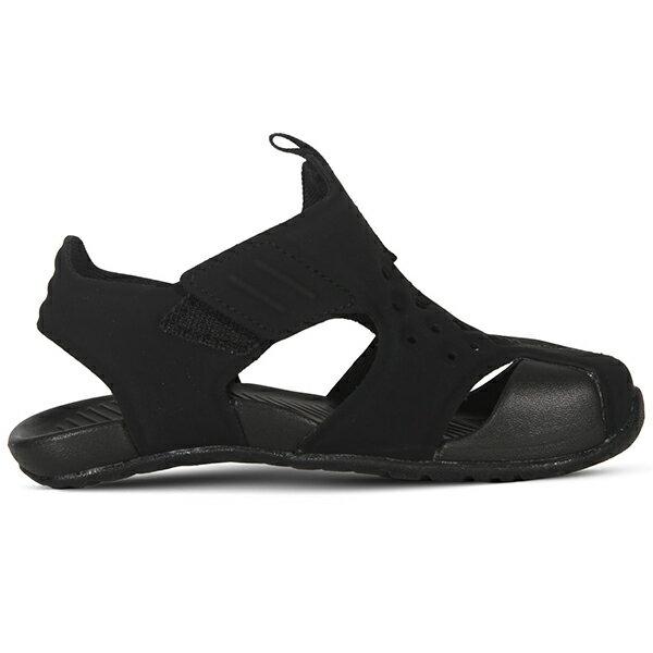 Shoestw【943827-001】NIKE Sunray Protect 涼鞋 洞洞 黏帶 護趾 黑色 小童鞋 2