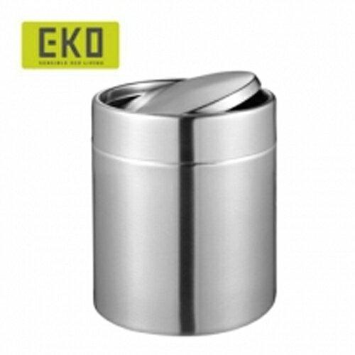 EKO 方迪桌面搖蓋式不鏽鋼垃圾桶 1.5L小型 (2色可選) x1 0