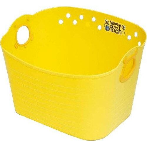 【真愛日本】18011100003 日本製收納置物籃27L-PH黃 迪士尼 小熊維尼 POOH 汙衣籃 玩具收納籃