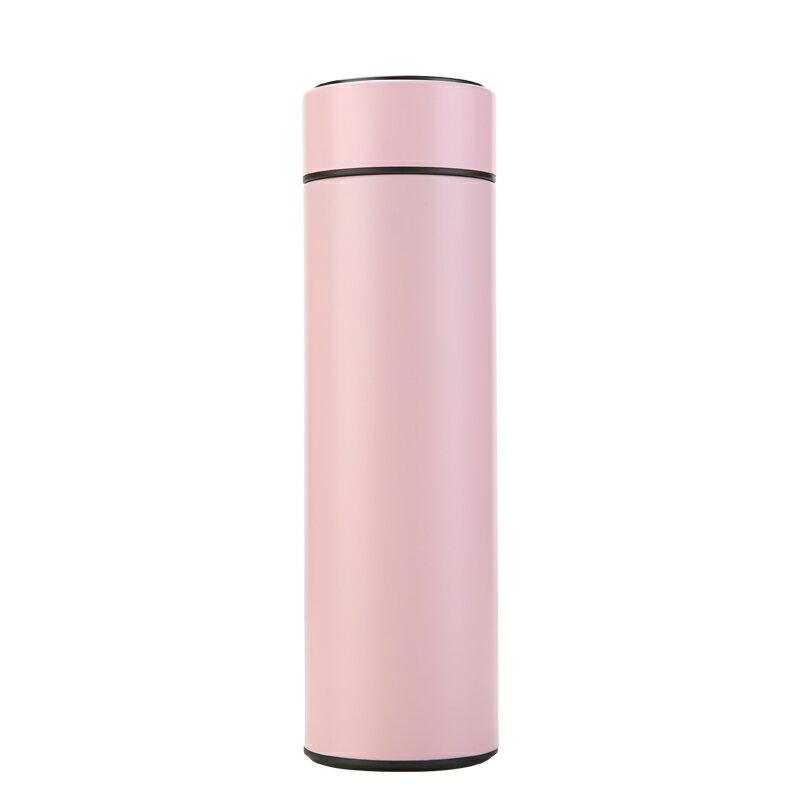 保溫杯 智能測溫保溫杯溫度顯示觸摸感溫水杯男女學生商務禮品茶杯子訂製『CM42947』