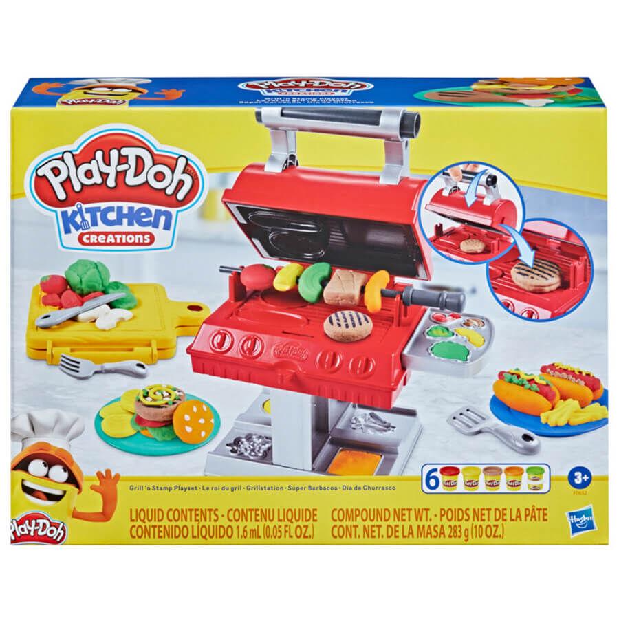 麗嬰兒童玩具館--Play-Doh培樂多 廚房系列 BBQ美式烤肉遊戲組