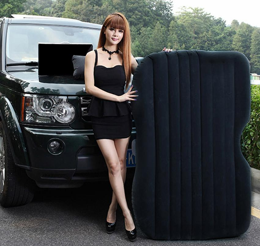 Black Car Inflatable Mattress Airbed Rest Pillow With Pump 1