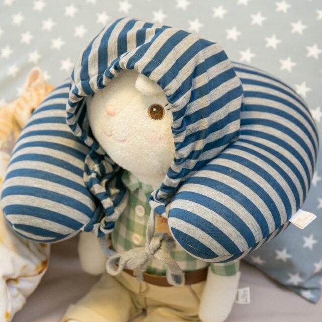 無印帽 頸枕 藍灰色 紓壓/休息 便利實用 0